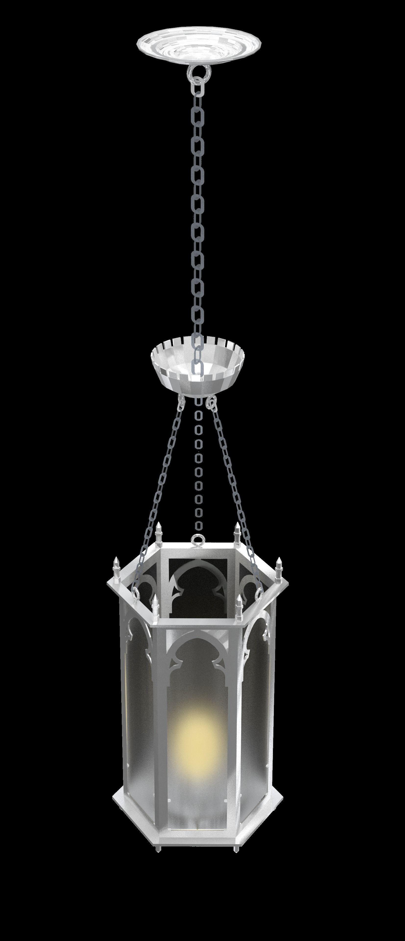 Gothic Ceiling Hung Light Fixture Decorative 3d Model Obj 3ds 3dm Dwg Skp 4