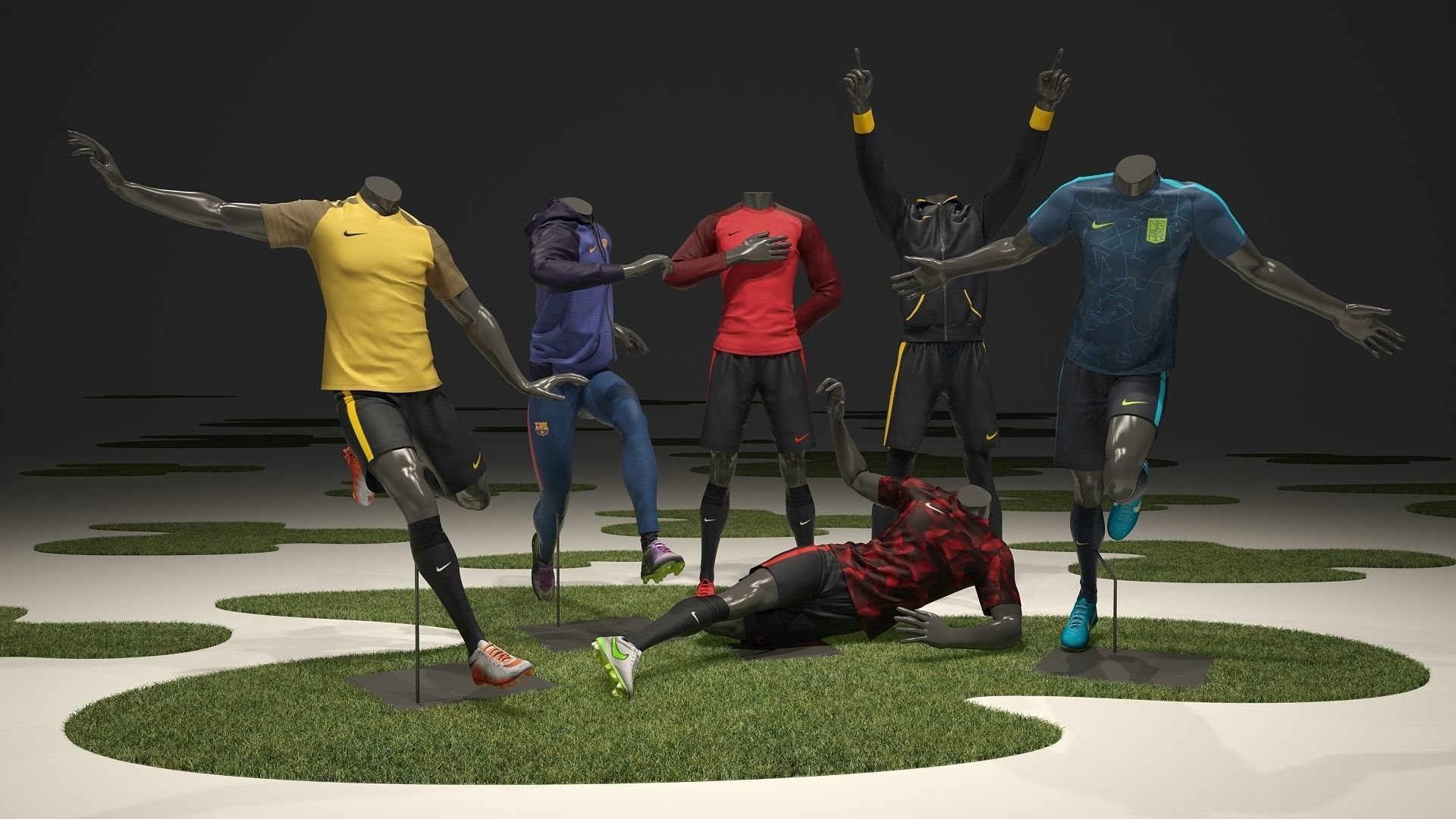 Male mannequin Nike Football pack