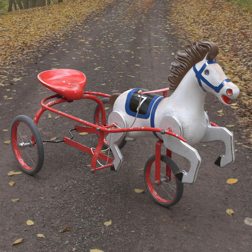 Antique Airplane Tricycle : Vintage soviet horse tricycle pedal car d model