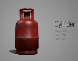 3D asset Lowpoly Cylinder