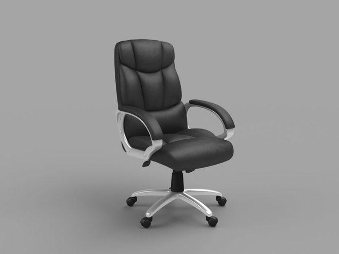 office chair 3d model low-poly obj 1