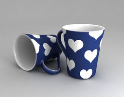 3D model Mug with 3 different textures
