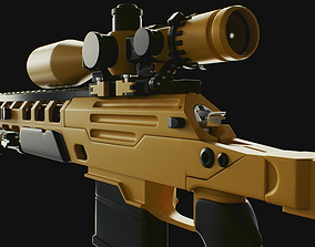 COD Bo2 ballista sniper high poly 3D model