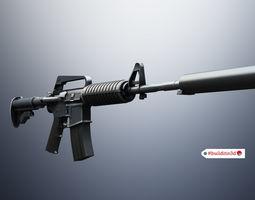 3D asset rigged m4a1 Assault rifle