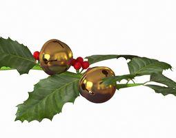 Christmas jingle bell branch 3D model