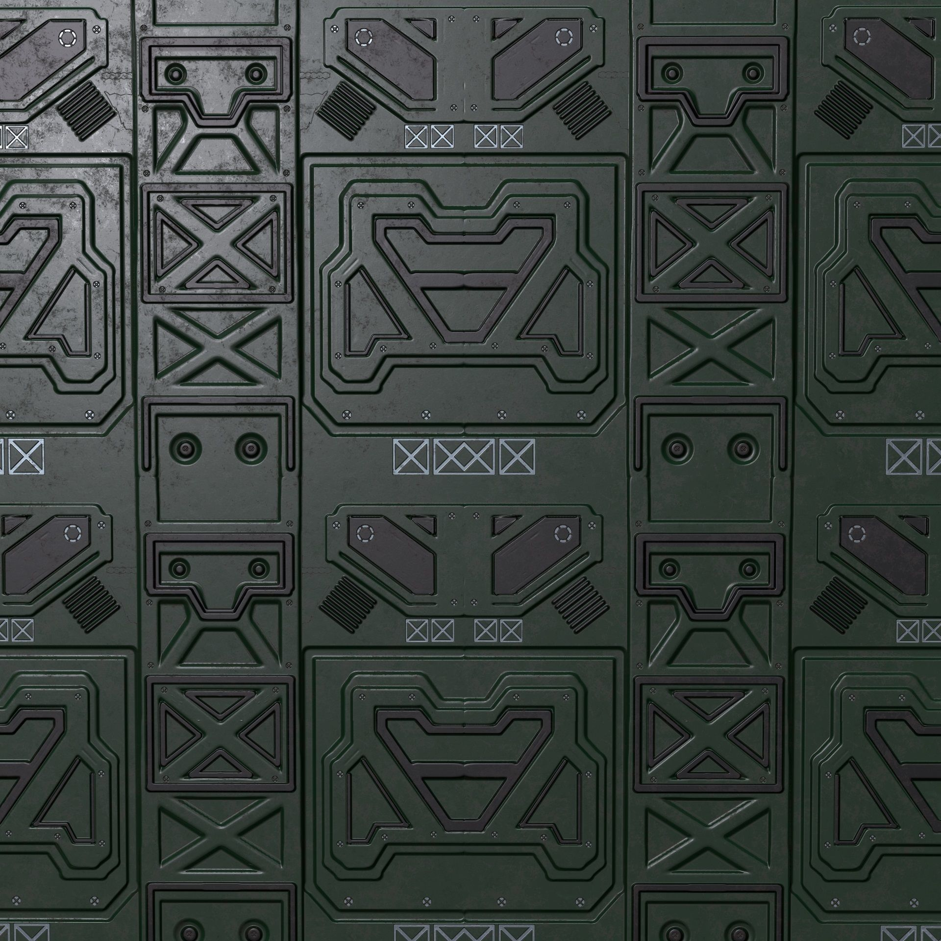 PBR seamless sci fi texture pack 3D model low-poly