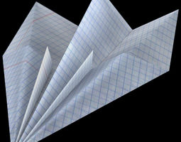 3D asset Paper airplane