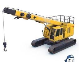 3D model Crawler crane 01