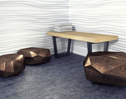 3D model Geometric Seat Set