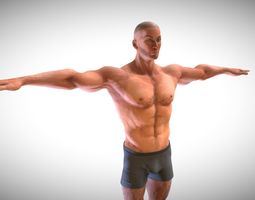 Strong Male Character 3D model