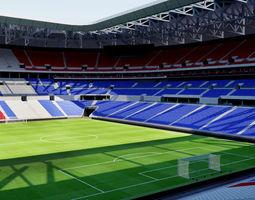 3D asset Parc Olympique Lyonnais - Lyon