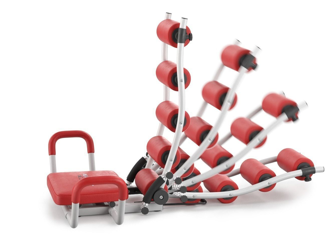 gym trainer ab rocket twister - rigged 3d model rigged max 1