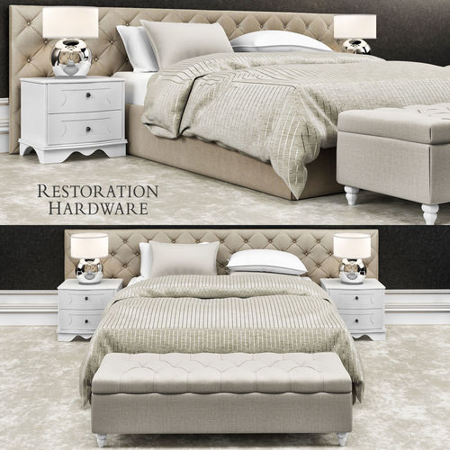 3D model Restoration hardware bedroom furniture | CGTrader