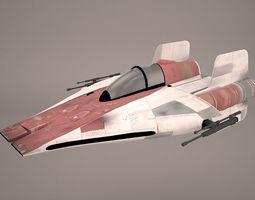 3D Game Ready RZ-1 A-wing interceptor Starfighter Star