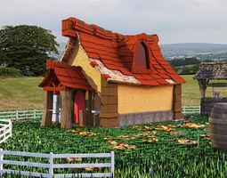 cartoon house exterior 3D model