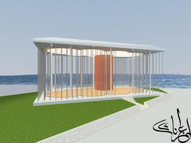 cloud pavilion on shanghai waterfront 3d model max 1