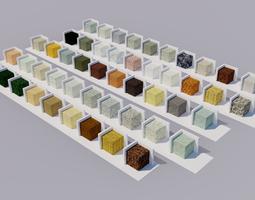 3D model Stones Materials cube