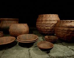 3D asset low-poly Ancient Ceramic Pack
