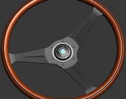 3D model Nardi Torino - Wood Steering wheel