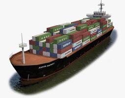 carrier Cargo Ship 3D asset realtime
