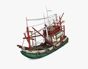 3D model Thai Fishing boat