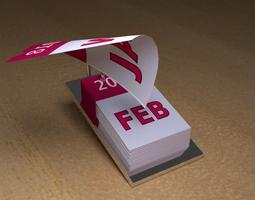 3D model animated Tear Off Desk Calendar