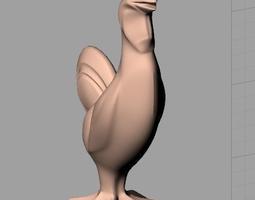 Animal Sculpture Model Standing Cock A149