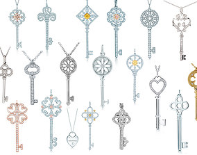 Tiffany keys Big Set 3D printable model
