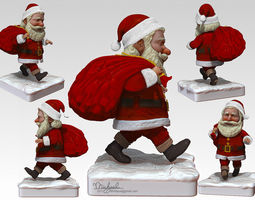 Santa Claus 3D model rigged