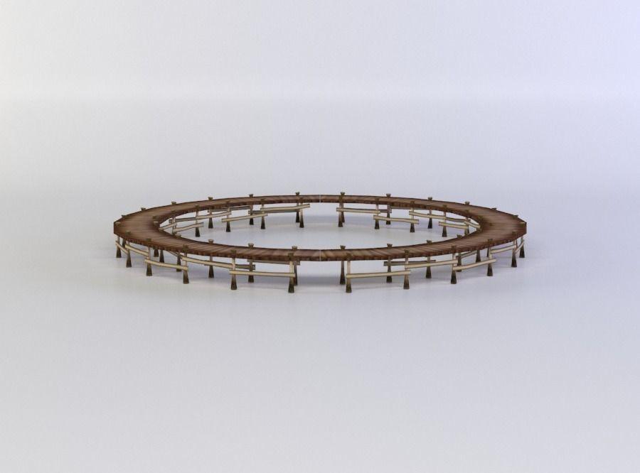 Wooden circle platform