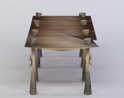 wooden platform 3d asset realtime