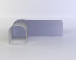 white corner VR / AR ready 3d asset