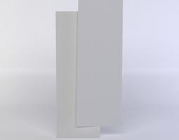 two white blocks 3d model low-poly