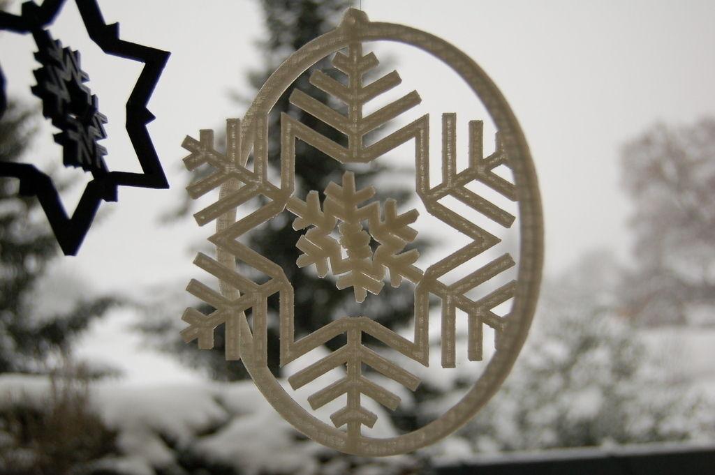 Gyroscopic Snowflake Free 3d Model 3d Printable Dxf Stl