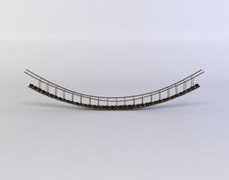hanging bridge  3d model game-ready