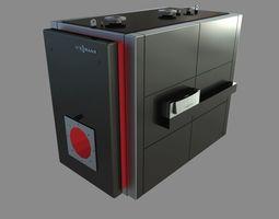 Low-temperature boiler Vitoplex 100 3D model