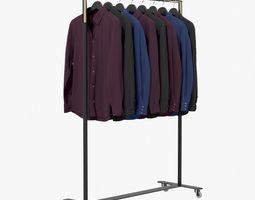 3D Shirts Dark on Hanger