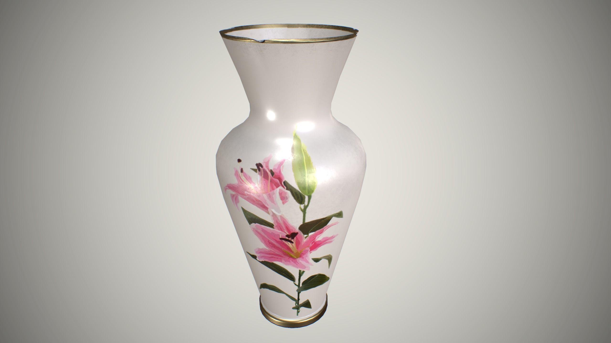 3d asset vase for flowers cgtrader vase for flowers 3d model low poly max obj fbx mtl tga 1 reviewsmspy