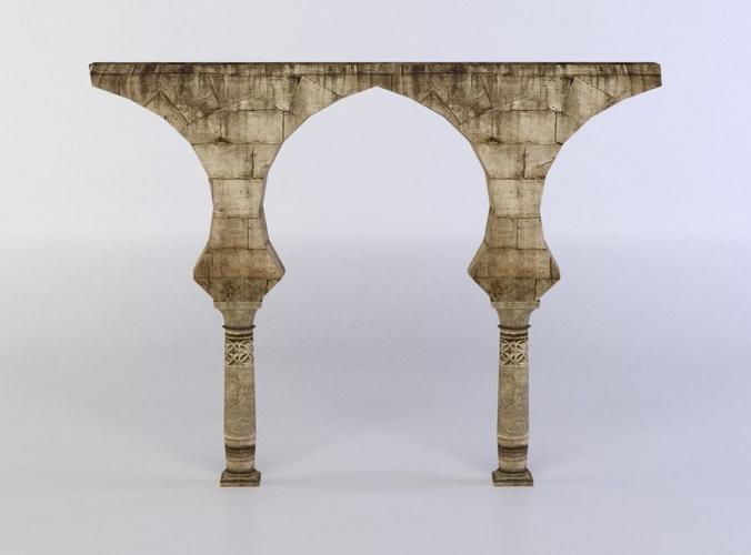 column ruins 3d model low-poly obj mtl fbx c4d lwo lw lws dae X 1