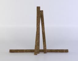 low-poly planks 3d model