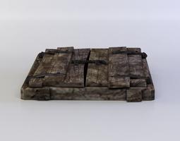 low-poly trap door 3d model