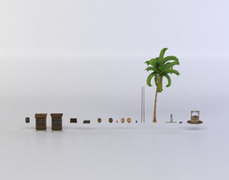 various goods realtime 3d model