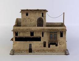3d model low-poly oriental house