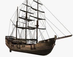 Chinese Old Ship 01 3D