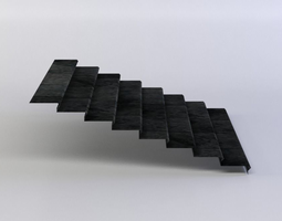 3d model game-ready stairs
