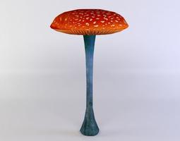 red mushroom 3d asset VR / AR ready