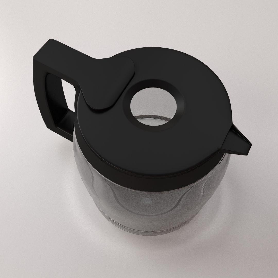 Cooks Coffee Maker Carafe Model 22005 : Coffeemaker Carafe 3D Model 3DS FBX BLEND DAE CGTrader.com