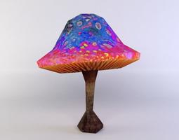 mushroom 3d model game-ready