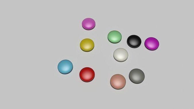 candy for particle simulation 3d model low-poly obj mtl 3ds fbx blend dae 1