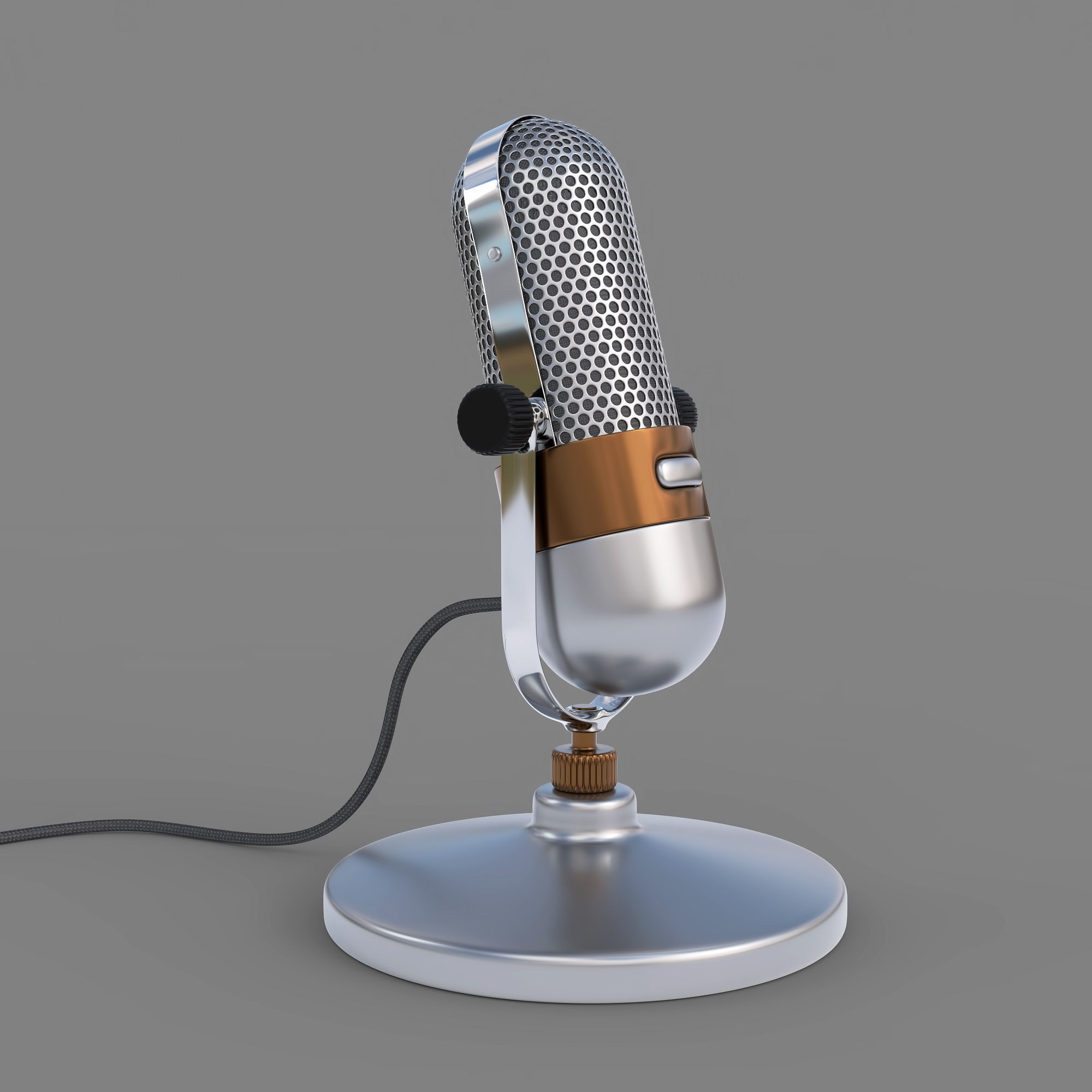 f94710b34 classic 3D model Vintage Microphone | CGTrader
